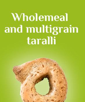 Wholemeal and multigrain Taralli